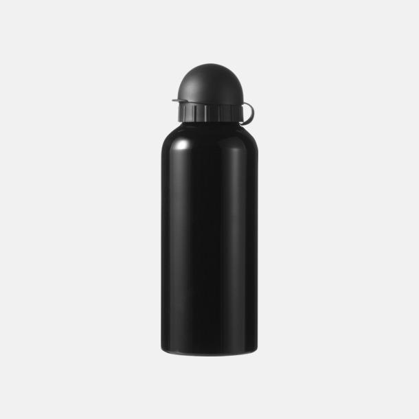 Svart Vattenflaskor av stål med gravyr