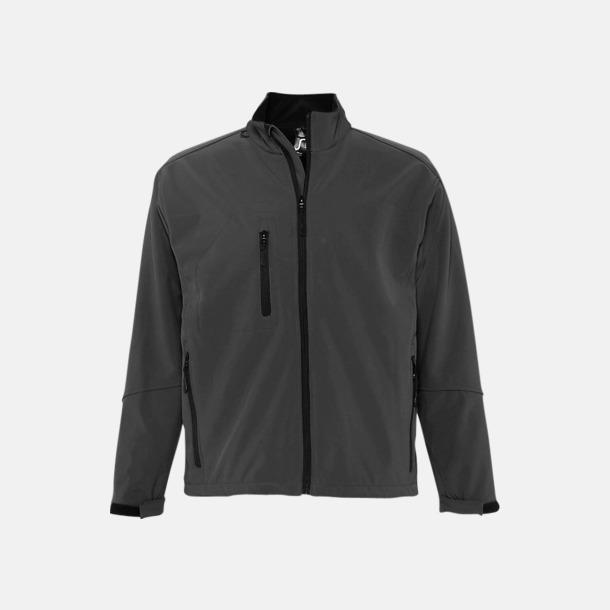 Charcoal Grey solid (herr) Softshell jackor i herr- & dammodell med reklamtryck