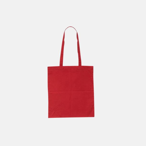 Red (pms 032U) Billiga tygkassar med tryck