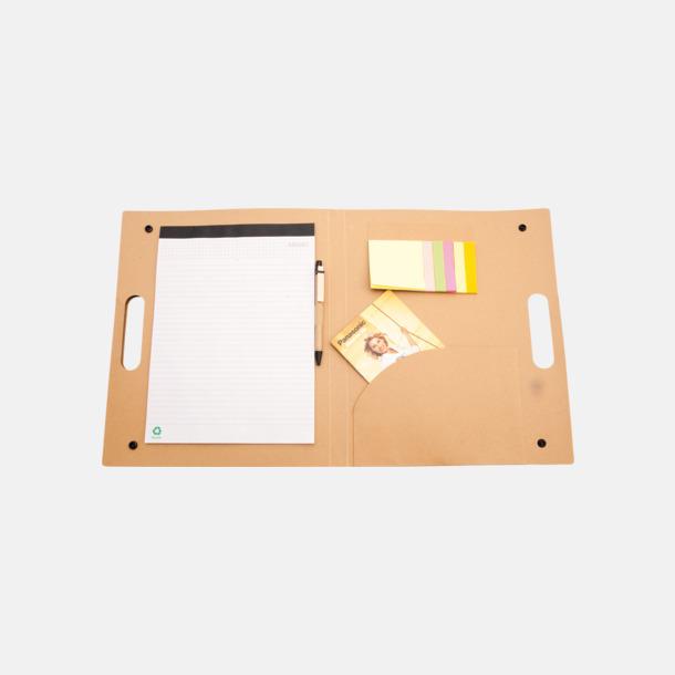 Miljövänliga konferensmappar med block, blad och penna - med reklamtryck