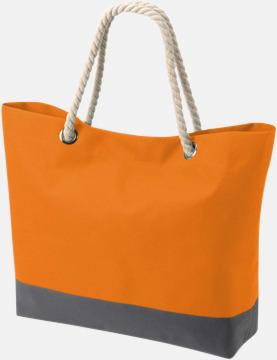 Orange/Grå Shoppingkassar med rephandtag - med reklamtryck
