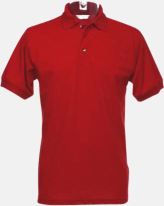 Röd Arbetspikétröjor i många färger - med reklambrodyr