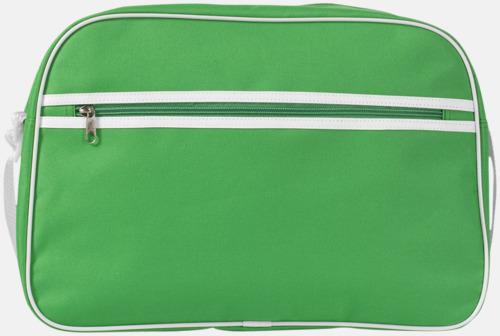 Klargrön Retroaxelväskor med reklamtryck