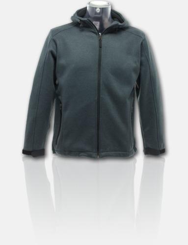 Dark Marl Grey/Svart Soft shell-jackor i herr- & dammodell med reklamtryck