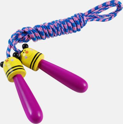 Lila/Gul Hopprep för barn med djurmotiv