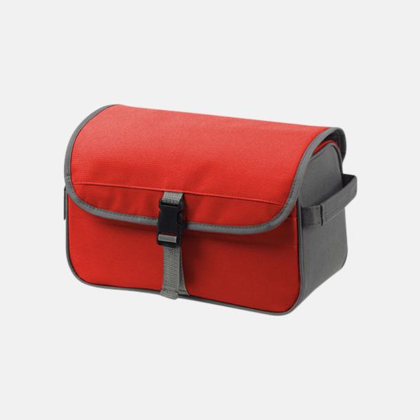 Röd / Grå Rymliga necessärer med reklamtryck