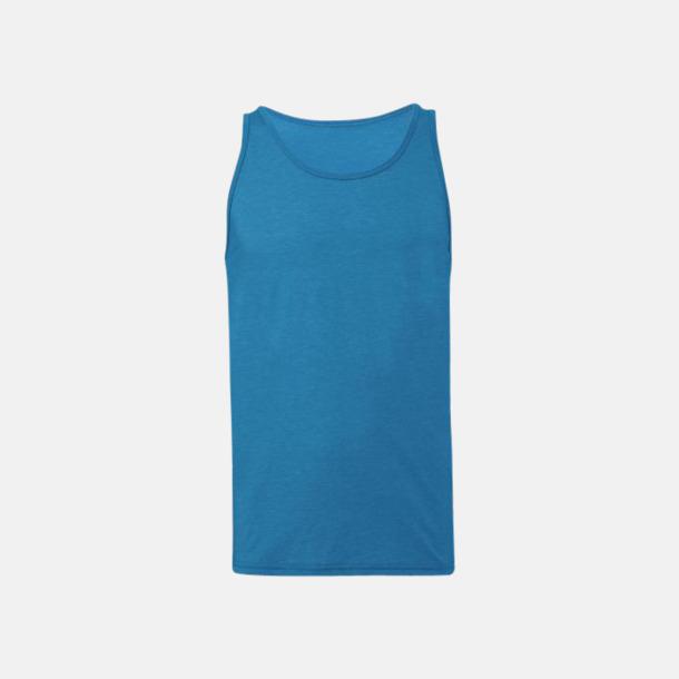 Neon Blue Bomullslinnen i unisexmodell med reklamtryck