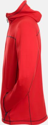Röd/Carbon sida (herr) Figursydda herr- & damjackor i fleece med reklamlogo