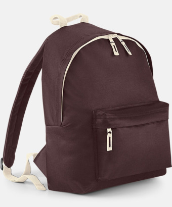 Chocolate/Sand Klassisk ryggsäck i 2 storlekar med eget tryck