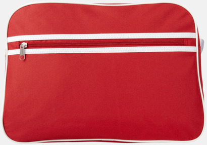 Röd / Vit Retroaxelväskor med reklamtryck