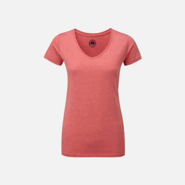 Red Marl (v-neck dam) Färgstarka t-shirts i herr- och dammodell med reklamtryck