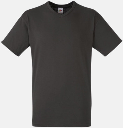Charcoal (solid) V-ringad t-shirt med reklamtryck