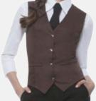 Light Brown (dam) Färggranna västar i herr- och dammodell med reklamtryck