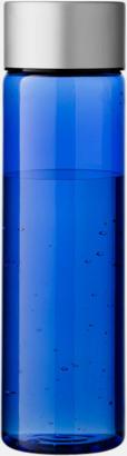 Transparent Blå Cylinderformade vattenflaskor med reklamtryck