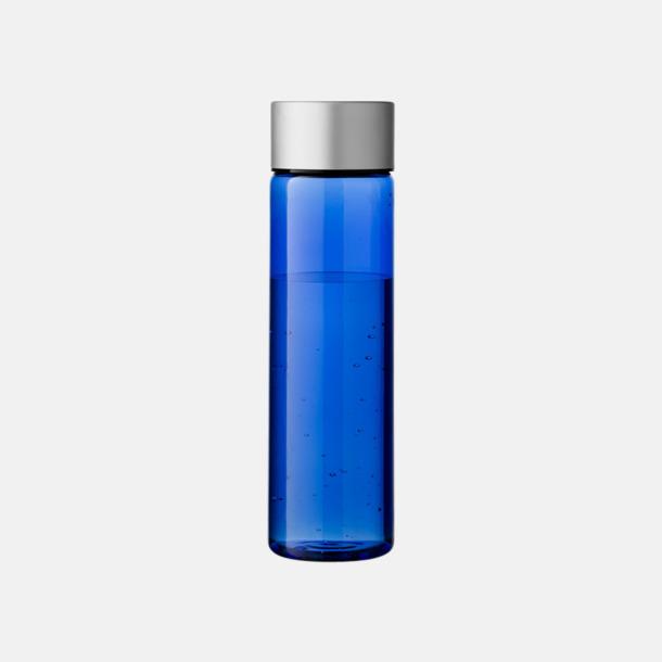 Transparent Blå/Silver Cylinderformade vattenflaskor med reklamtryck