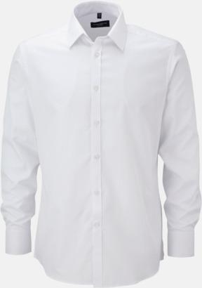 Vit (långärmnad) Strykfri businessskjorta