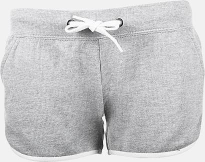 Grey Melange Damshorts med reklamtryck eller -brodyr