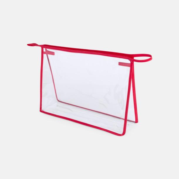 Transparent/Röd Genomsynliga necessärer med reklamtryck