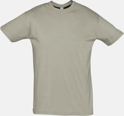 Khaki Billiga herr t-shirts i rmånga färger med reklamtryck
