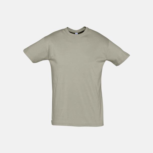 Khaki Billiga unisex t-shirts i många färger med reklamtryck