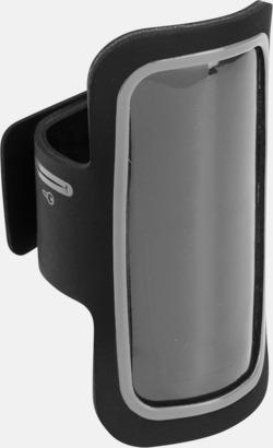 Svart/Silver Armband som passar iPhones och Galaxy smartphones med reklamtryck