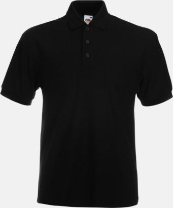 Svart Pikétröjor med tryck eller brodyr