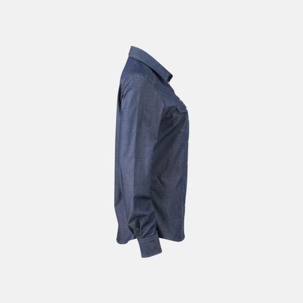Easy Care premium jeansskjortor med reklamtryck