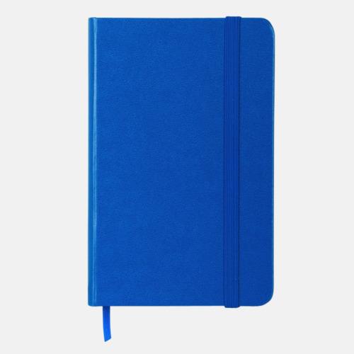 Blå Anteckningsbok A5 i konstläder med tryck