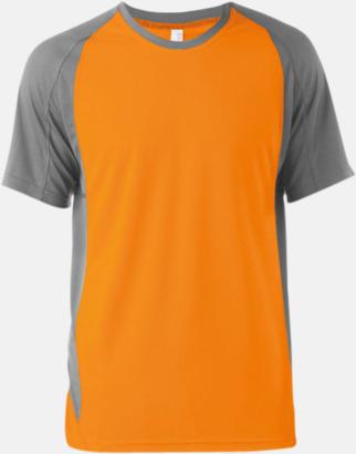 Orange/Fine Grey (solid) Tvåfärgade funktionströjor för män - med reklamtryck