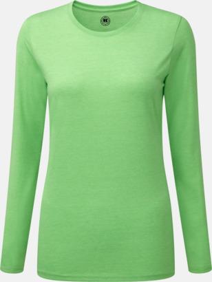 Green Marl (dam) Färgstarka långärms t-shirts i herr-, dam och barnmodell