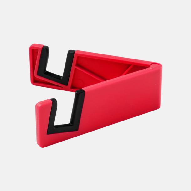 Röd Praktiskt ställ för surfplattor och smartphones