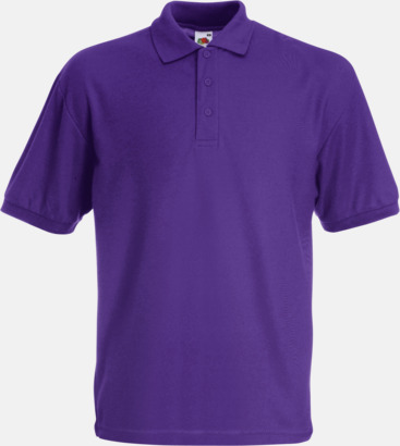 Lila Pikétröjor med reklamtryck eller brodyr