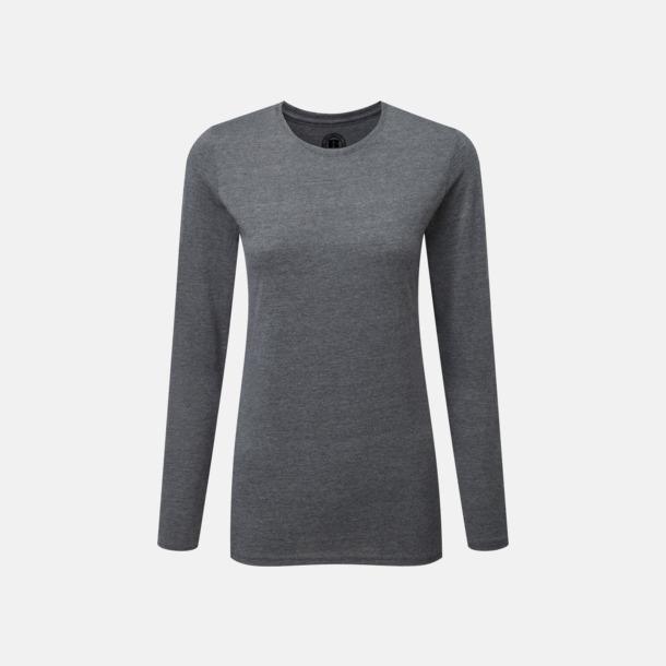 Grey Marl (dam) Färgstarka långärms t-shirts i herr-, dam och barnmodell
