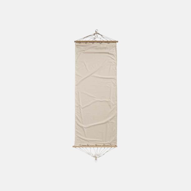 Natur Naturfärgade bomulls hängmattor med reklamtryck