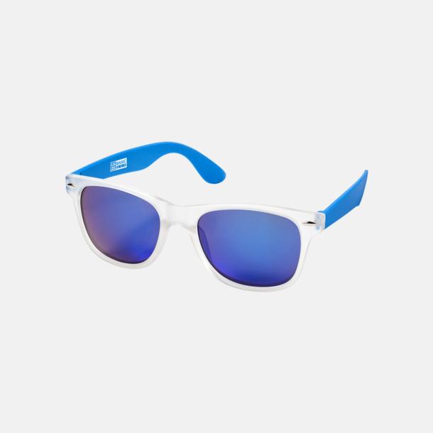 Blå Snygga och säkra solglasögon med färgade linser - med reklamtryck