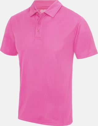 Electric Pink Färgglada pikétröjor med reklamtryck