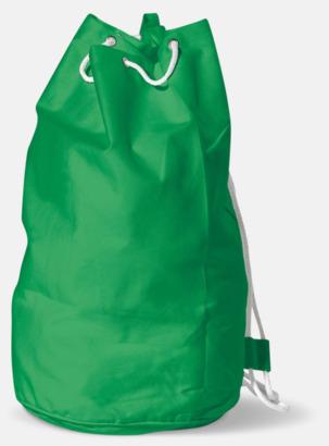 Grön Sjömansväska i bomull med eget tryck