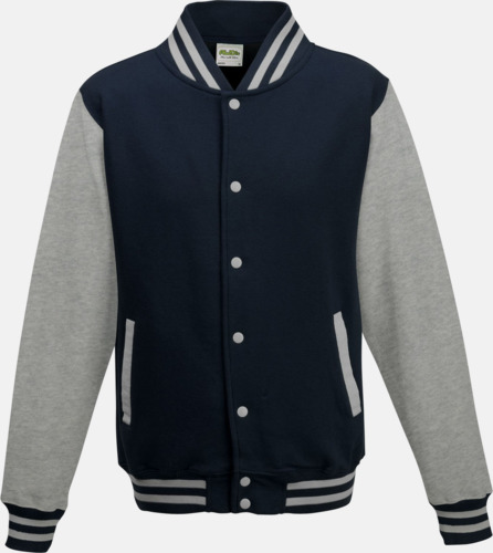 Oxford Navy/Heather Grey Trendiga varsity-jackor med tryck