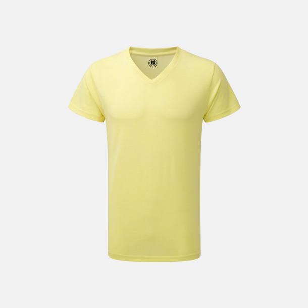 Yellow Marl (v-neck herr) Färgstarka t-shirts i herr- och dammodell med reklamtryck