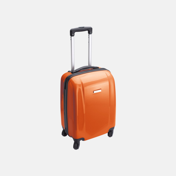 Orange 4-hjuls trolley med reklamtryck