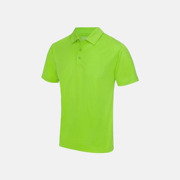 Electric Green Färgglada pikétröjor med reklamtryck