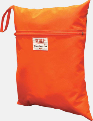 Fluorescerande Orange Fodral i fluorescerande färg med reklamtryck