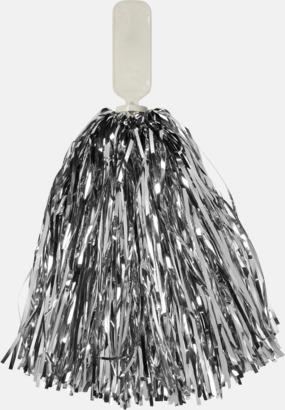 Silver Små, glittriga pom-poms med reklamtryck