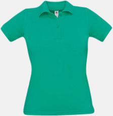 Pacific Green Pikétröjor med tryck för dam
