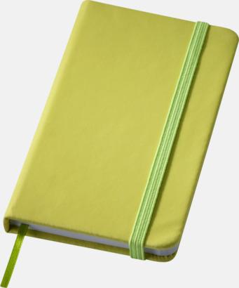 Limegrön (small) Notisblock med PVC-omslag - med tryck