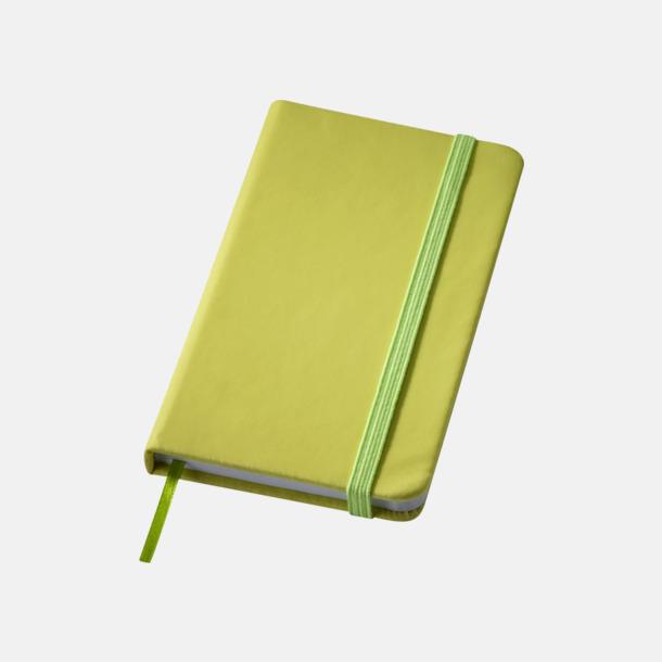 Limegrön Notisblock med PVC-omslag - med tryck
