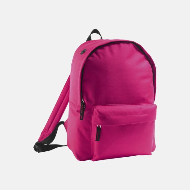 Fuchsia Billiga ryggsäckar med ege tryck