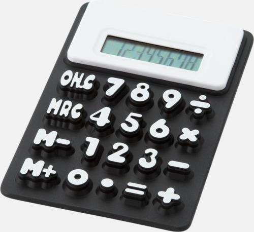 Svart Mjuka miniräknare med reklamtryck