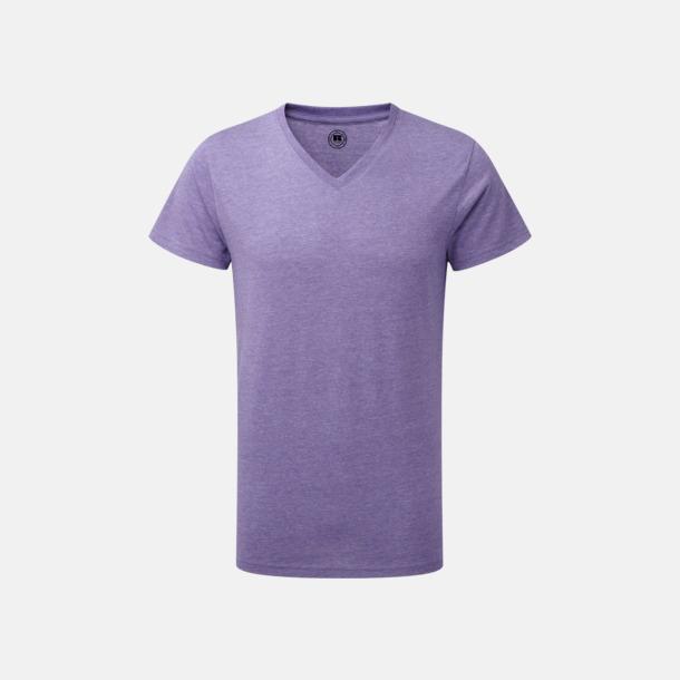 Purple Marl (v-neck herr) Färgstarka t-shirts i herr- och dammodell med reklamtryck