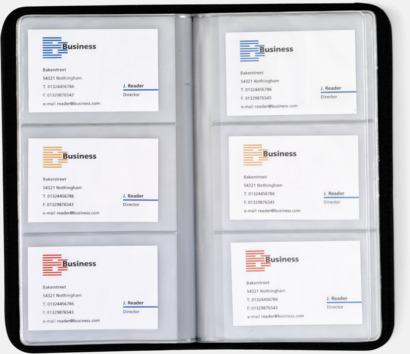 Visitkortsmapp med eget tryck